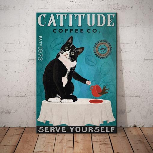 Cattitude Serve Yourself Coffee Company poster 1