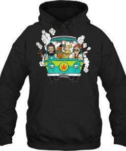 Cheech And Chong Scooby-Doo Weed Car Hoodie