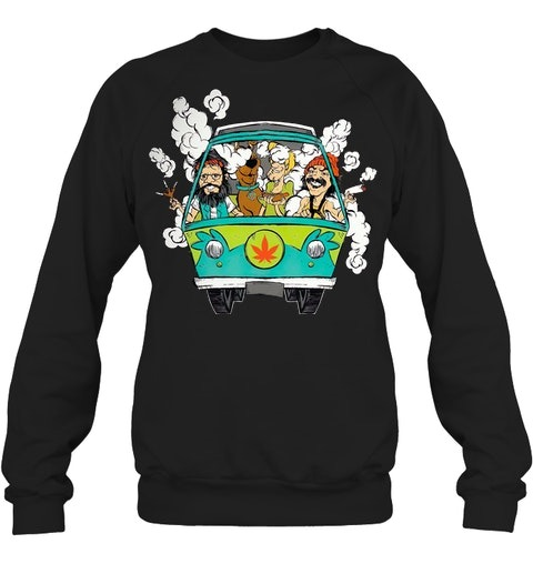 Cheech And Chong Scooby-Doo Weed Car Sweatshirt