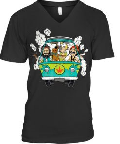 Cheech And Chong Scooby-Doo Weed Car V-neck