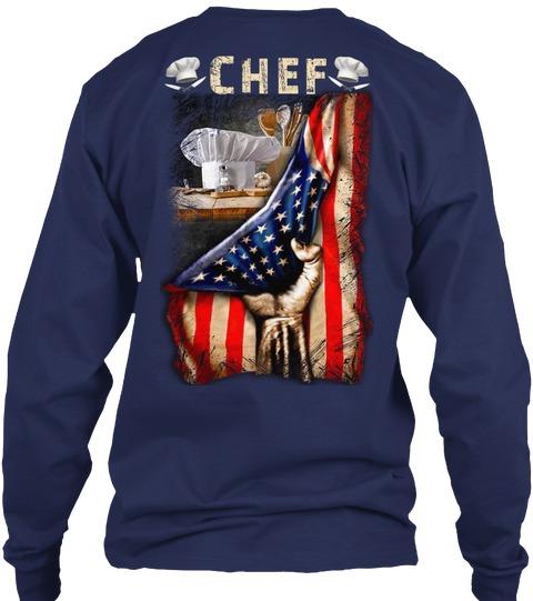 Chef Proud v-neckFlag long sleeved