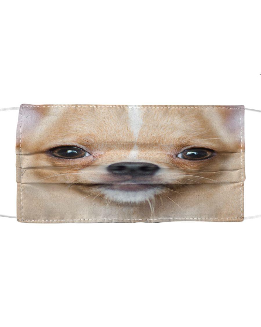 Chihuahua 3D cloth face mask1
