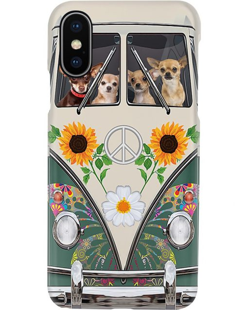 Chihuahua Hippie Bus phone case x