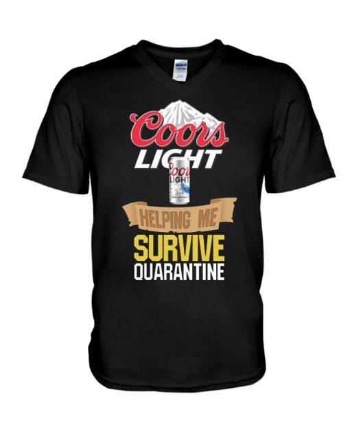 Coors Light Helping me survive quarantine v-neck