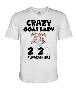 Crazy Goat Lady 2020 Quarantined v-neck