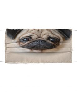 Cute Pug Dog 3D face fabric mask 1