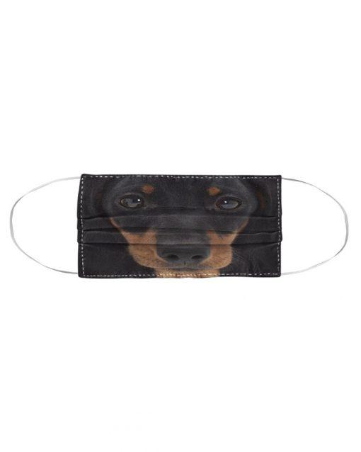 Dachshund 3D cloth face mask2