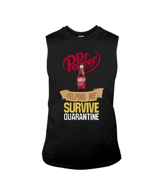 Dr Pepper Helping me survive quarantine tank top