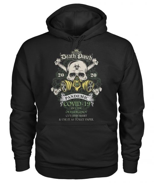 Five Finger Death Punch 2020 Covid-19 Pandemic Skull Hoodie