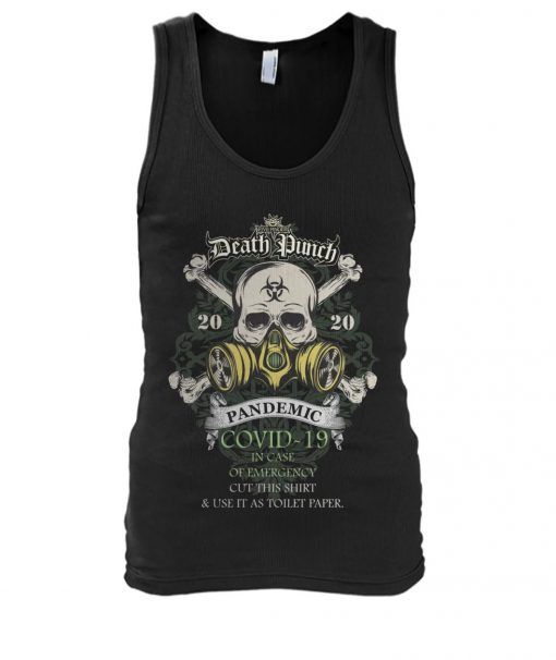 Five Finger Death Punch 2020 Covid-19 Pandemic Skull Tank top