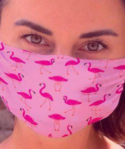 Flamingos Face Mask