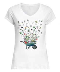 Garden tool flying V-neck