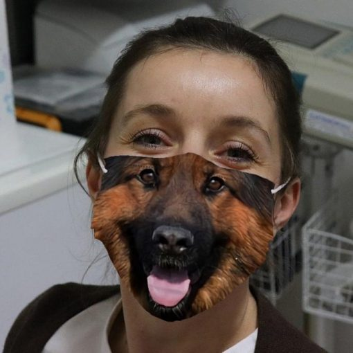German Shepherd 3D cloth face mask