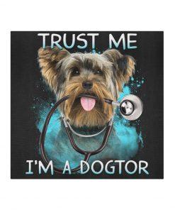 Golden Retriever Doctor Trust me I'm a dogtor cloth mask 2