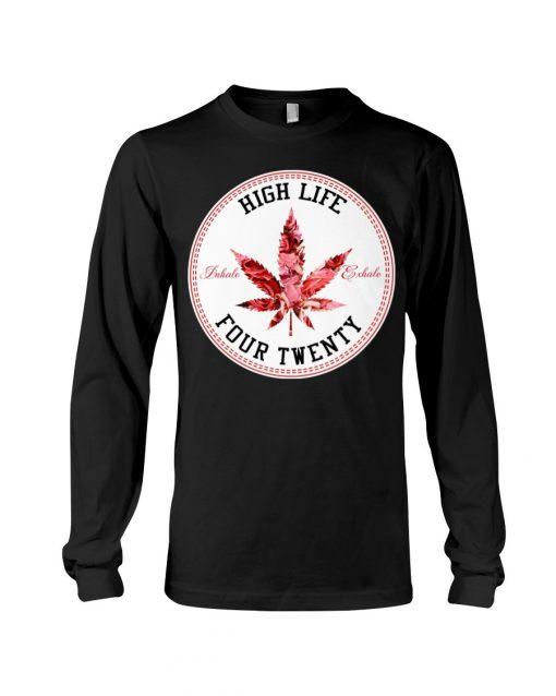 High Life Four Twenty Weed long sleeved