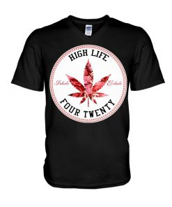 High Life Four Twenty Weed v-neck