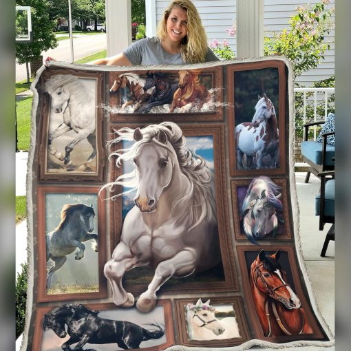 Horse 3D Fleece blanket