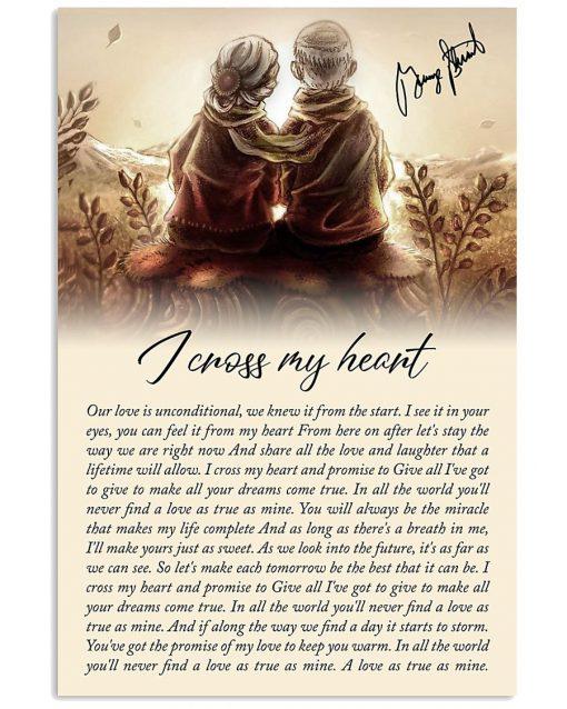 I Cross My Heart Lyrics Poster1