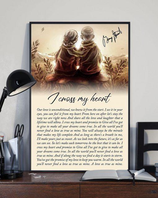 I Cross My Heart Lyrics Poster2