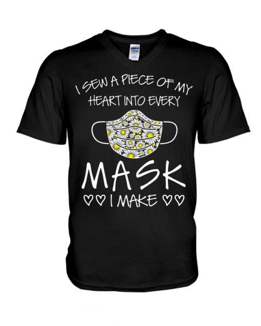 I sew a piece of my heart into every mask I make v-neck
