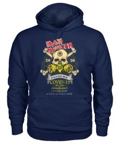 Iron Maiden 2020 Covid-19 Pandemic Skull hoodie