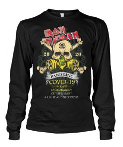 Iron Maiden 2020 Covid-19 Pandemic Skull long sleeved