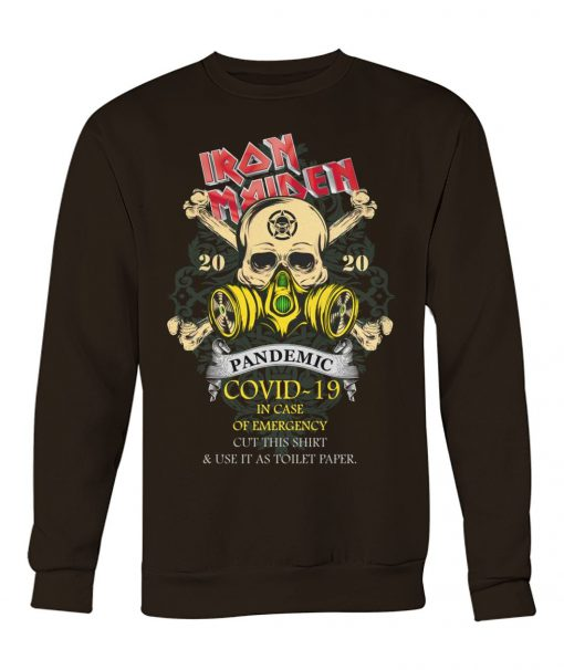 Iron Maiden 2020 Covid-19 Pandemic Skull sweatshirt