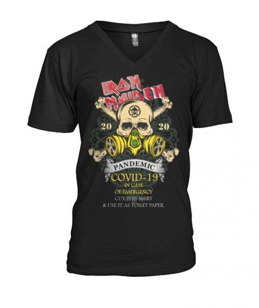 Iron Maiden 2020 Covid-19 Pandemic Skull v-neck