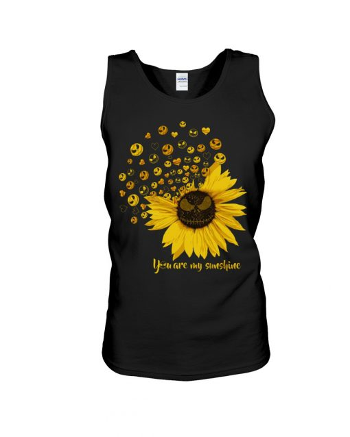 Jack Skellington Sunflower You are my sunshine Tank top