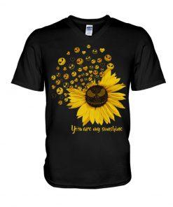 Jack Skellington Sunflower You are my sunshine V-neck