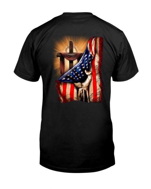 Jesus Christ Proud American Flag T-shirt