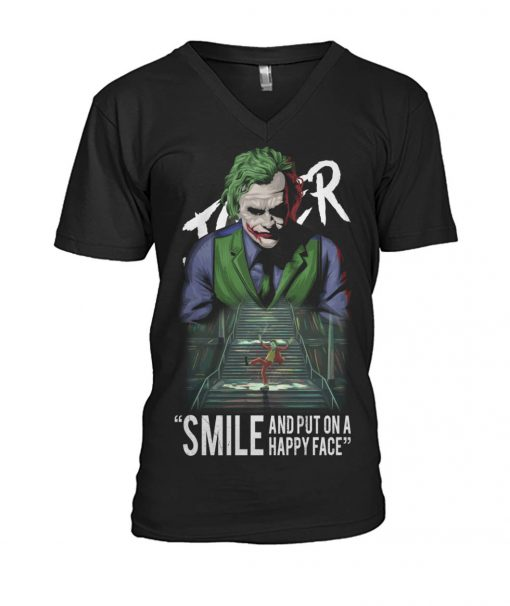 Joker Smile and put on a happy face v-neck