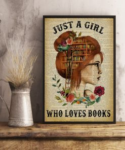 Just A Girl Who Loves Books Flowers paper poster 2