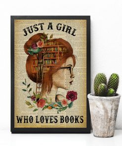 Just A Girl Who Loves Books Flowers paper poster 3