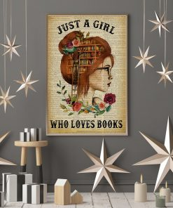 Just A Girl Who Loves Books Flowers paper poster 4