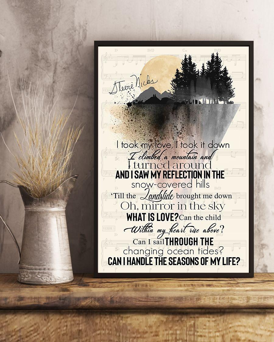 Landslide Lyrics I took my love, took it down poster3