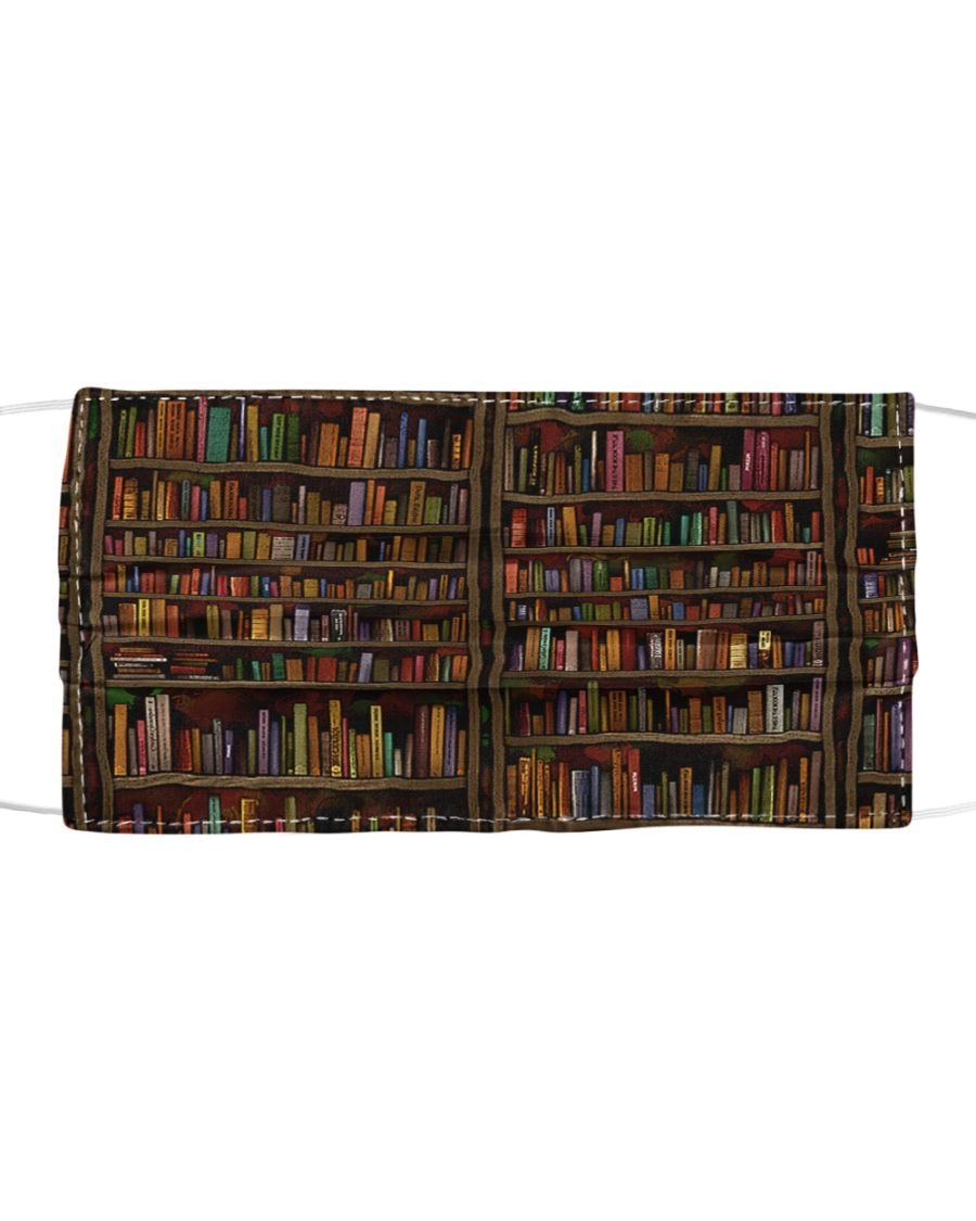 Librarian Books Cloth face mask1