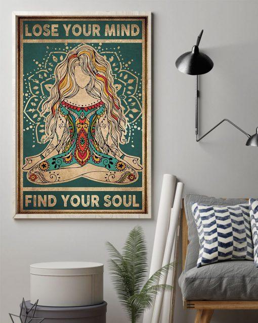 Lose you mind Find Your soul Yoga vintage poster 3