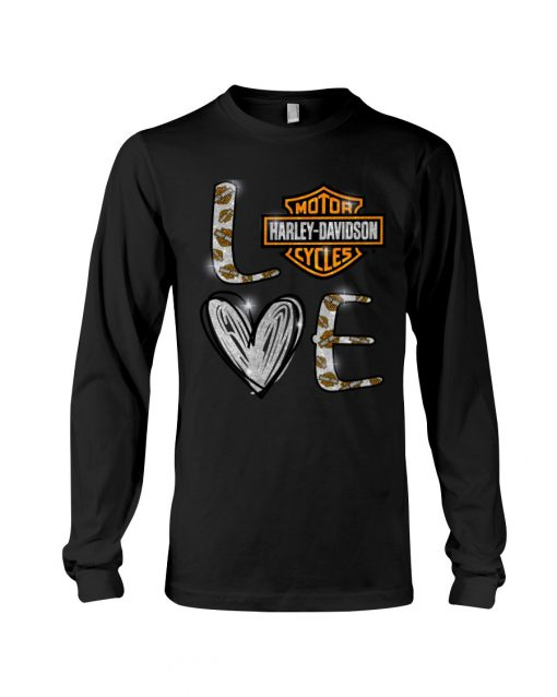 Love Motor Harley Davidson cycles long sleeved