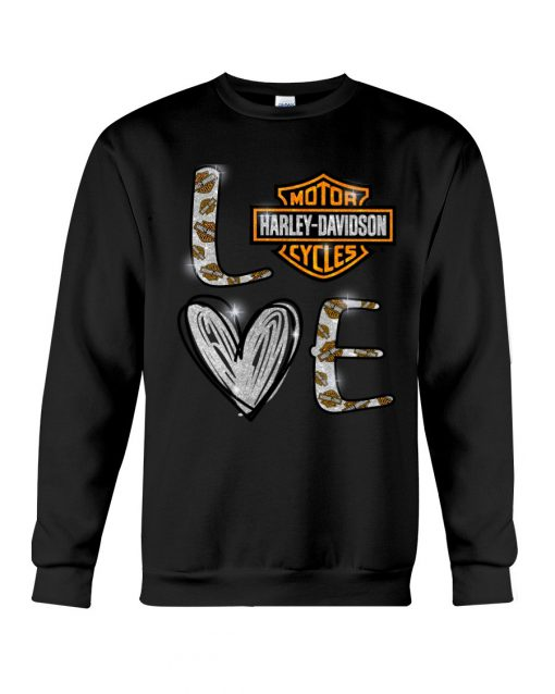 Love Motor Harley Davidson cycles sweatshirt