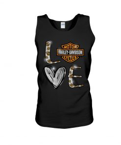 Love Motor Harley Davidson cycles tank top