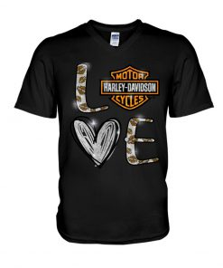 Love Motor Harley Davidson cycles v-neck