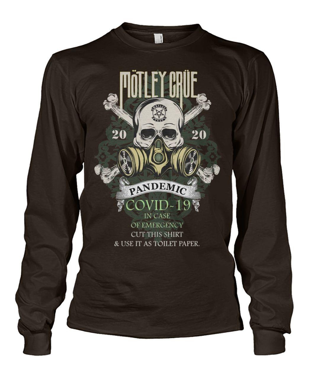 Mötley Crüe 2020 Covid-19 Pandemic Skull Long sleeve