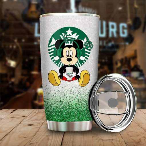 Mickey Mouse A woman cannot survive on Starbucks alone she also needs Disney tumbler 2