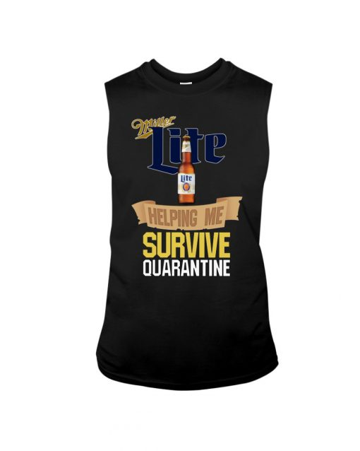 Miller Lite Helping me survive quarantine tank top