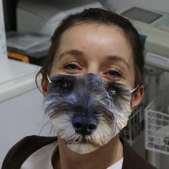 Miniature Schnauzer 3D face mask