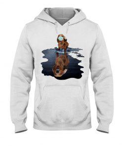 Monster dachshund dog lake reflection Hoodie