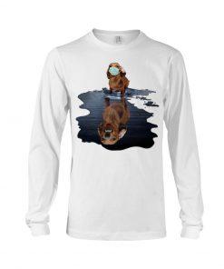 Monster dachshund dog lake reflection Long sleeve