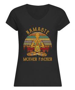 Namaste Mother fucker v-neck