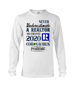Never underestimate a realtor who survived 2020 coronavirus pandemic long sleeved